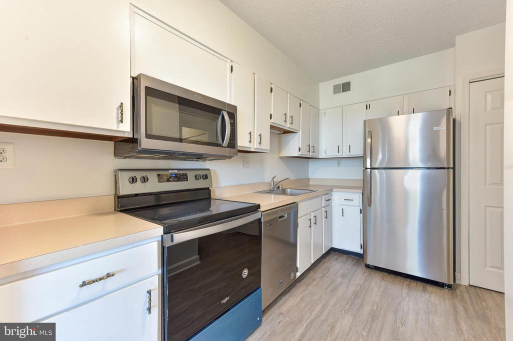 Kitchen cabinets & pantry  were also just painted - 5500 HOLMES RUN PKWY #1210, ALEXANDRIA
