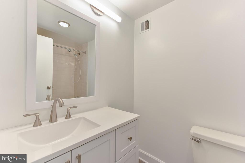 New vanity, LED lighting, fixtures~hall full bath - 5500 HOLMES RUN PKWY #1210, ALEXANDRIA