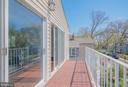 Master bedroom balcony - 3305 22ND ST N, ARLINGTON
