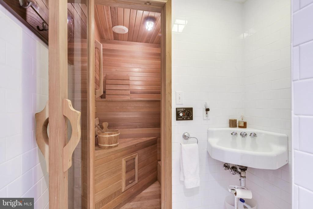 Sauna in lower level Full Bath - 61 COLLEGE AVE, ANNAPOLIS