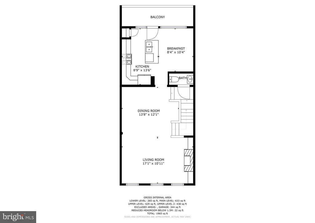 Level 2 - Living/Dining/Kitchen - 308 S PAYNE ST, ALEXANDRIA