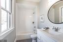 tub with tile to ceiling, large vanity bath 2 - 4856 33RD RD N, ARLINGTON
