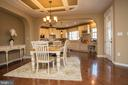Open dining concept - 26 WAGONEERS LN, STAFFORD