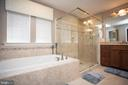 Master bath with soaking tub & frameless shower - 26 WAGONEERS LN, STAFFORD