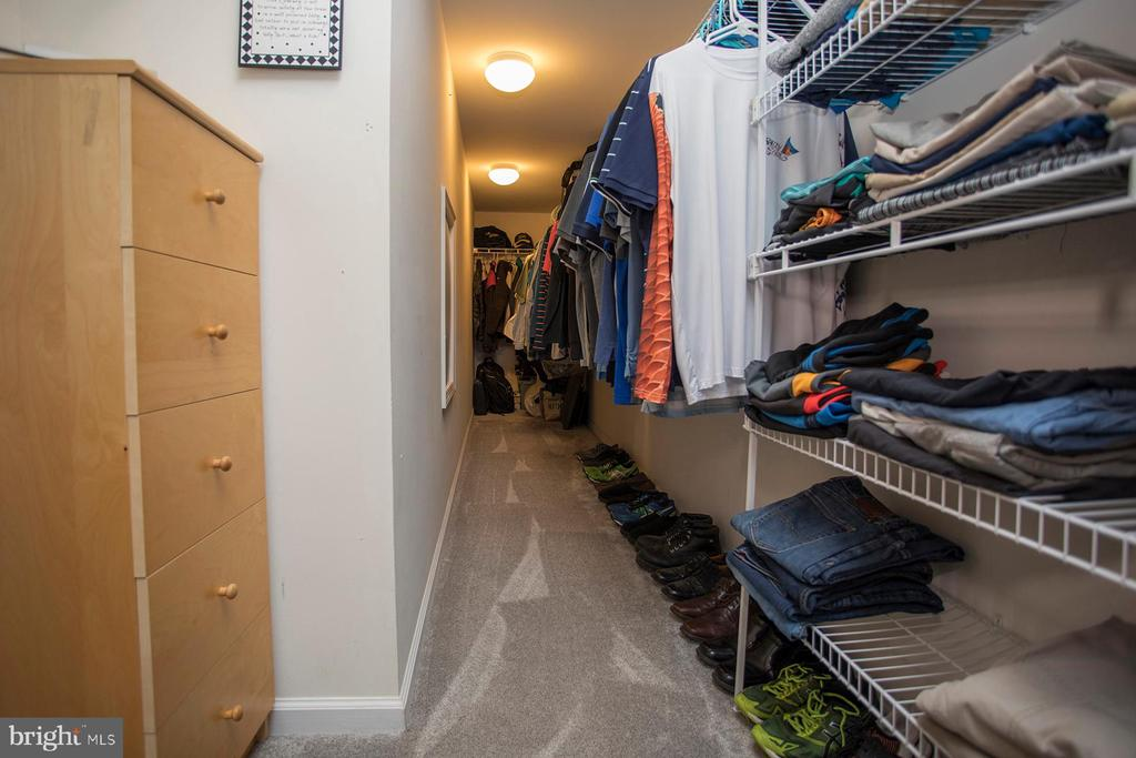 One of two large master bedroom closets - 26 WAGONEERS LN, STAFFORD