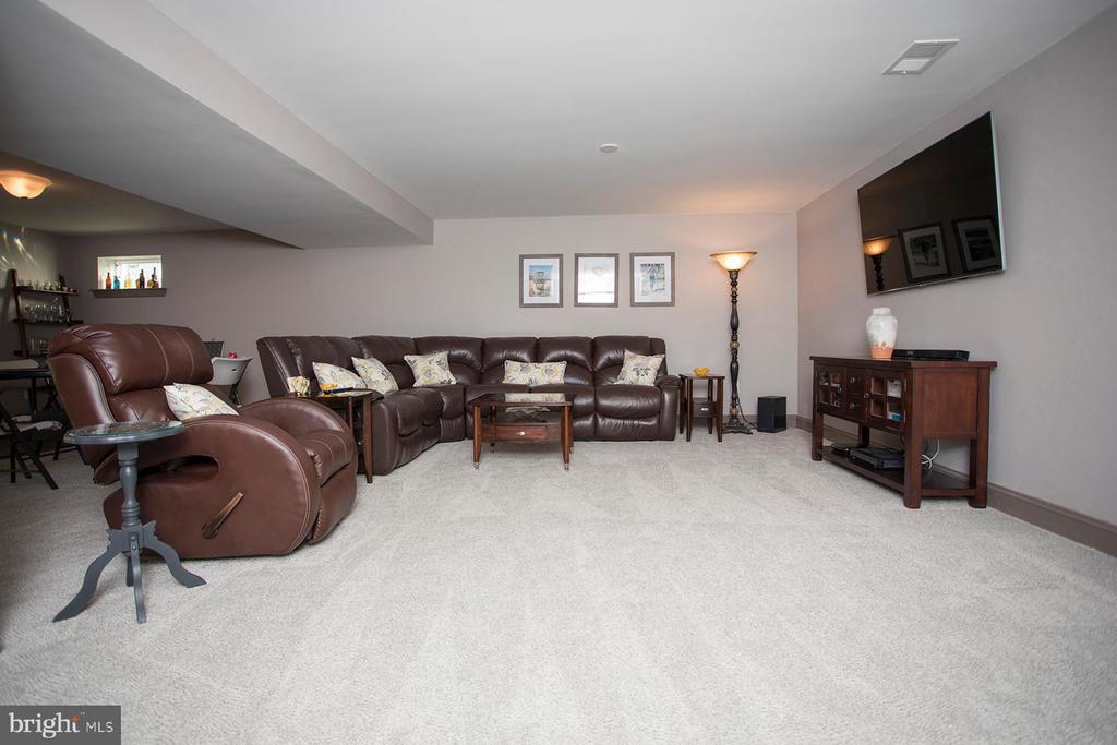 Recreation room on lower level - 26 WAGONEERS LN, STAFFORD