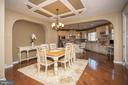 Dining area has room for large table - 26 WAGONEERS LN, STAFFORD