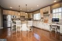 Gorgeous updraded kitchen cabinets - 26 WAGONEERS LN, STAFFORD