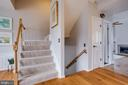 Curved staircases - 7506 SHIRLEY HUNTER WAY, ALEXANDRIA