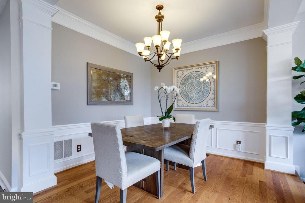 Separate dining room w/ tray ceiling - 7506 SHIRLEY HUNTER WAY, ALEXANDRIA