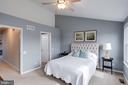 Master suite w/ ceiling fan - 7506 SHIRLEY HUNTER WAY, ALEXANDRIA