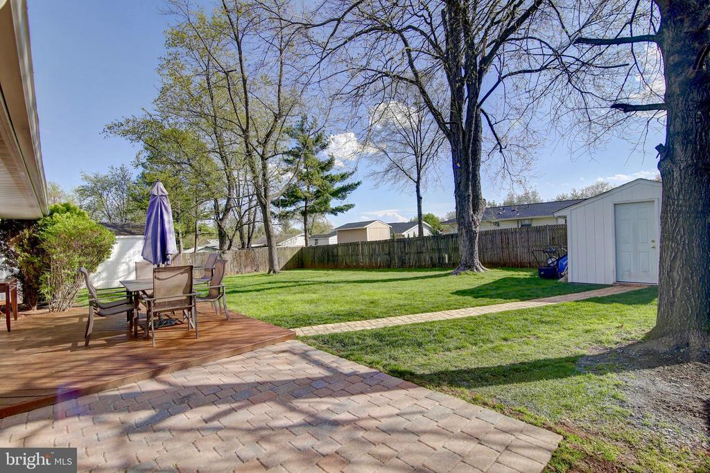 Spacious backyard  fully fenced - 201 E AMHURST ST, STERLING