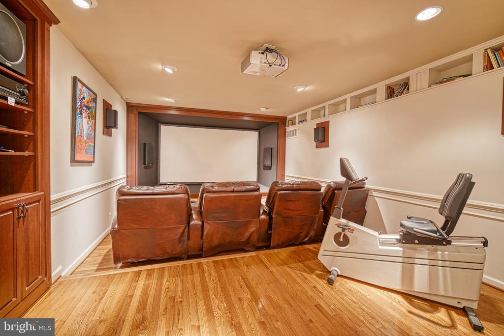 LOWER LEVEL MEDIA ROOM - 10896 HUNTER GATE WAY, RESTON