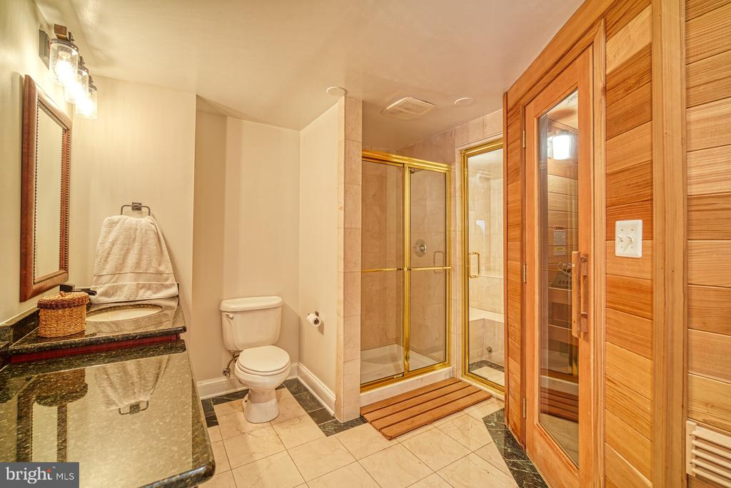 LOWER LEVEL FULL BATH W/ STEAM ROOM AND SAUNA - 10896 HUNTER GATE WAY, RESTON