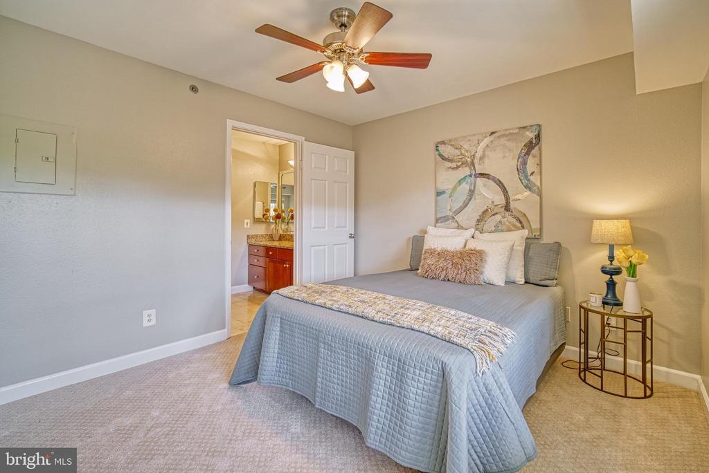 Bright bedroom with access to bath - 3315 WYNDHAM CIR #4226, ALEXANDRIA
