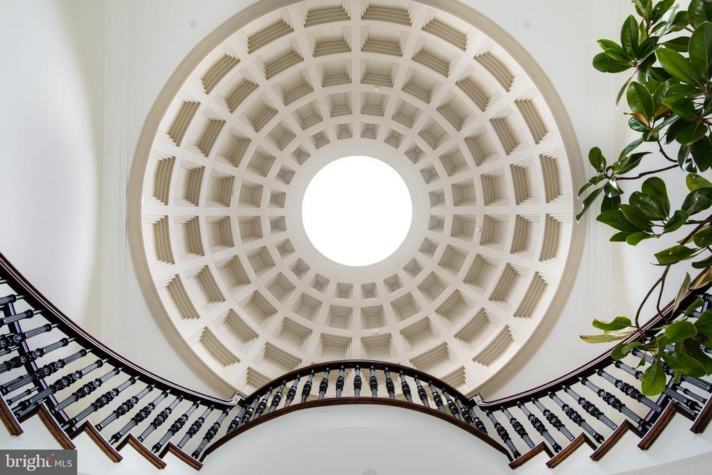 Grand foyer dome inspired by the Pantheon in Rome - 3301 FESSENDEN ST NW, WASHINGTON