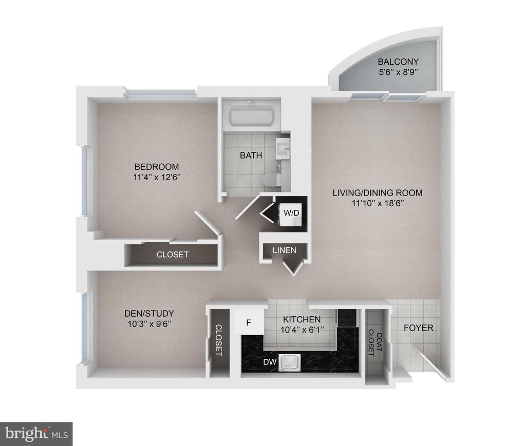 This  floor plan is combined with the BRAXTON - 900 N TAYLOR ST #1124, ARLINGTON