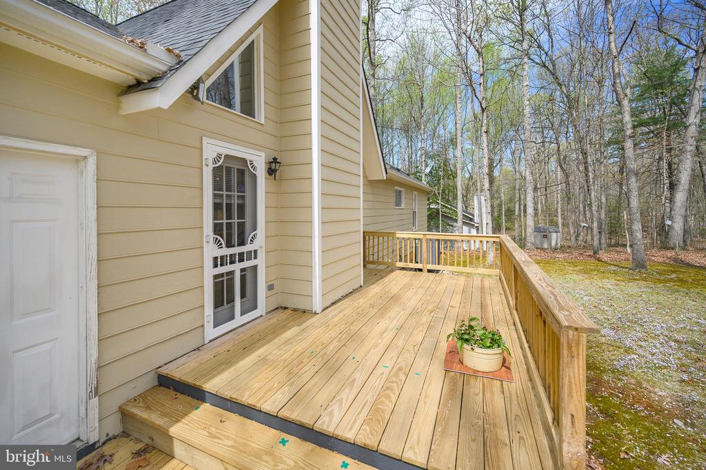 Door from garage to rear decks - 11709 WILDERNESS PARK DR, SPOTSYLVANIA