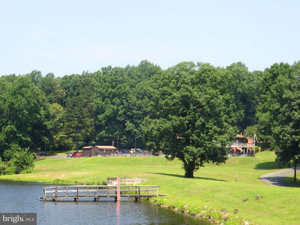 Lake overlook from club complex - 11709 WILDERNESS PARK DR, SPOTSYLVANIA