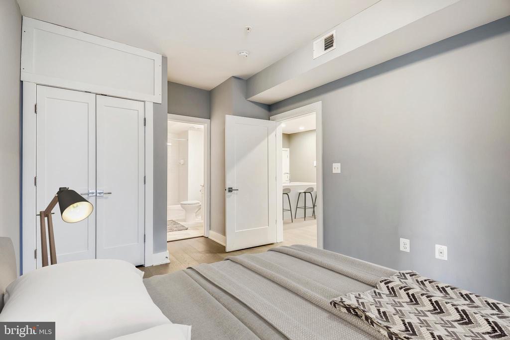 Virtually staged master bedroom - 1412 CHAPIN ST NW #203, WASHINGTON