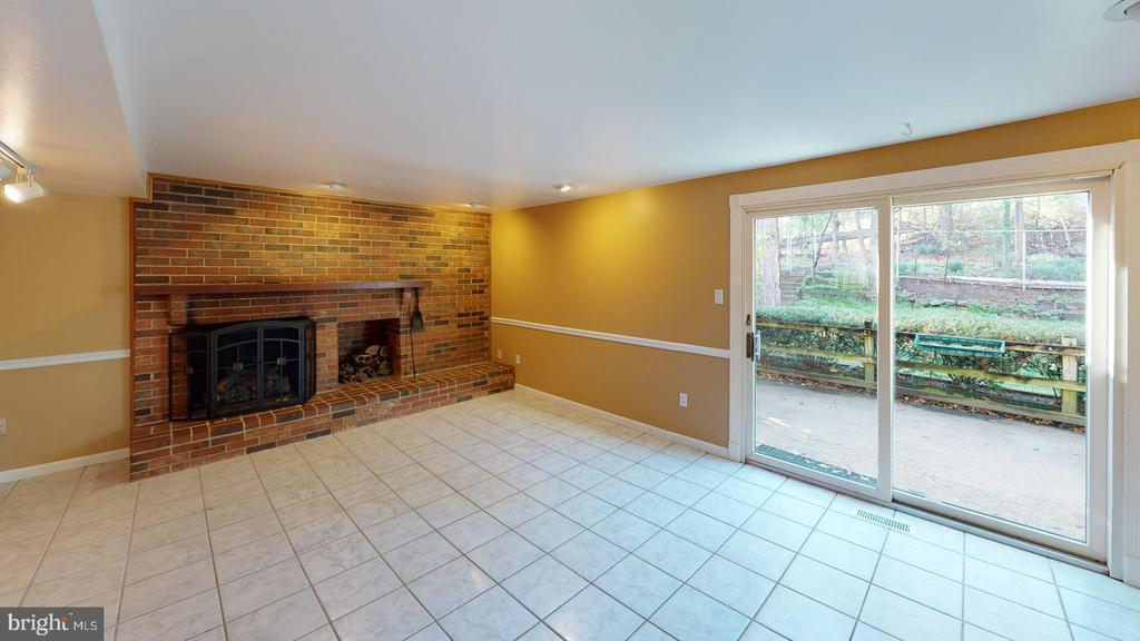 Basement with fireplace - 12903 MELVILLE LN, FAIRFAX