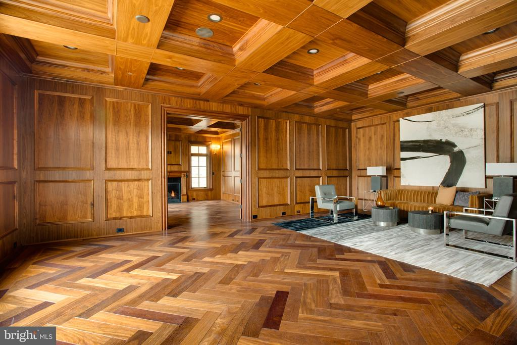 2 room library suite. Herringbone chestnut floors - 3301 FESSENDEN ST NW, WASHINGTON