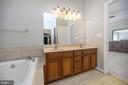 Luxurious master bath with double vanity - 623 MT PLEASANT DR, LOCUST GROVE