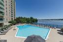 Large outdoor pool overlooking  the Potomac River - 501 SLATERS LN #823, ALEXANDRIA