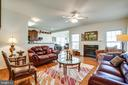 Family Room with Gas Fireplace - 5625 E KESSLERS XING, FREDERICKSBURG