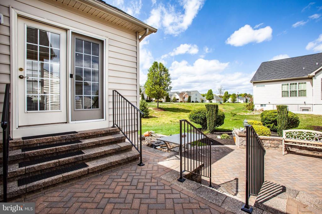 Back steps and brick patio - 5625 E KESSLERS XING, FREDERICKSBURG