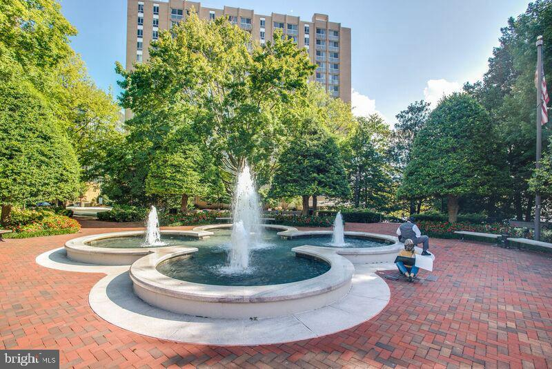 Friendship Heights Community Center Fountain - 4515 WILLARD AVE #1618S, CHEVY CHASE