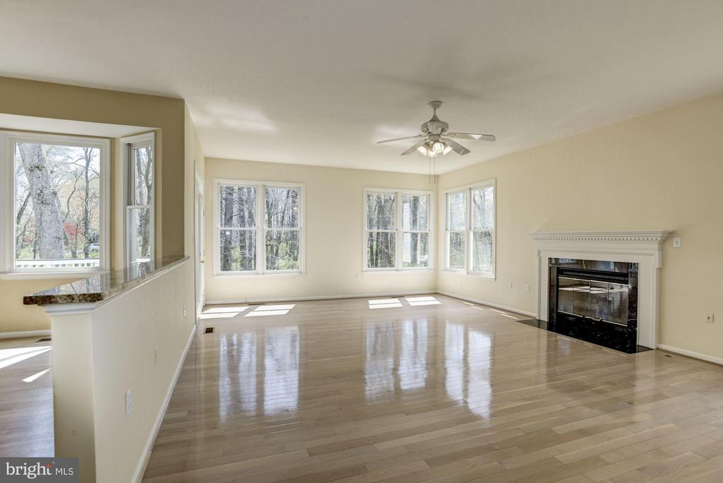 Large Family room with fire place - 2421 MILL HEIGHTS DR, HERNDON