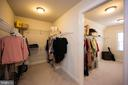 Two large walk-in closets - 26600 MARBURY ESTATES DR, CHANTILLY