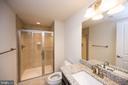 Full Bathroom in basement - 26600 MARBURY ESTATES DR, CHANTILLY
