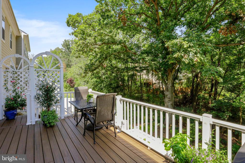 Trex Deck with staircase to lower level - 10264 GREENSPIRE DR, OAKTON
