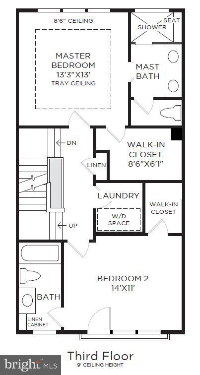 Bedroom Level - 4613 QUINNS MILL WAY, CHANTILLY