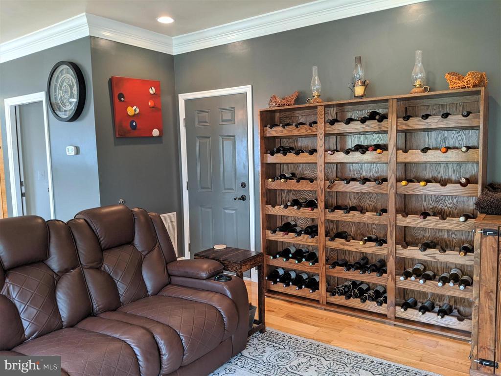 Wine Rack in Family Room - 9301 OLD SCAGGSVILLE RD, LAUREL