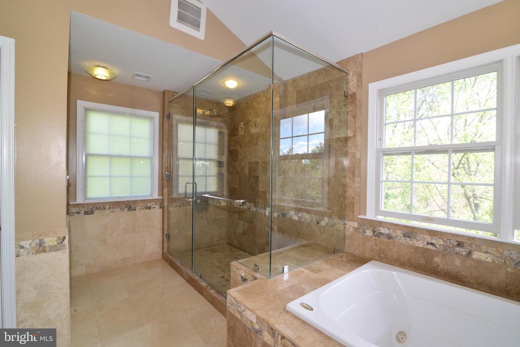 Frame-less shower in Master - 13247 MIDDLETON FARM LN, HERNDON