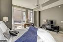Master room with Custom 3-way blinds. - 12025 NEW DOMINION PKWY #103, RESTON
