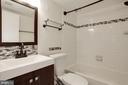 Guest bath with tub shower - 1001 N VERMONT ST #310, ARLINGTON