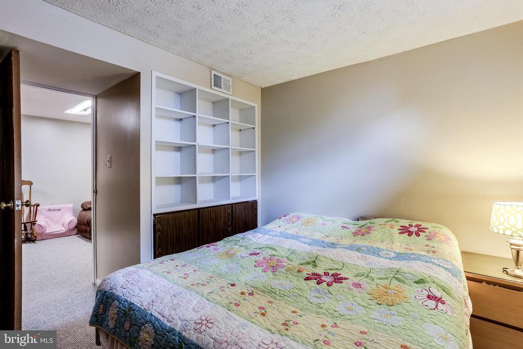 Lower Level 4th Bedroom w/ Built-Ins - 7924 BUTTERFIELD DR, ELKRIDGE