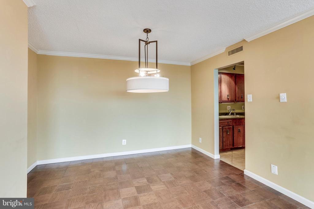 Dining Room With Designer Light Fixtures - 3800 FAIRFAX DR #1512, ARLINGTON