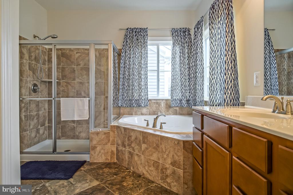 Luxurious master bath - 102 ALMOND DR, STAFFORD