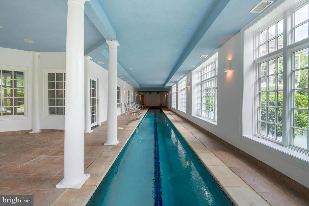 Indoor Lap Pool - 10807 GREENSPRING AVE, LUTHERVILLE TIMONIUM