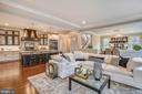 Overview of Open Kitchen/Family Room - 1936 FRANKLIN AVE, MCLEAN