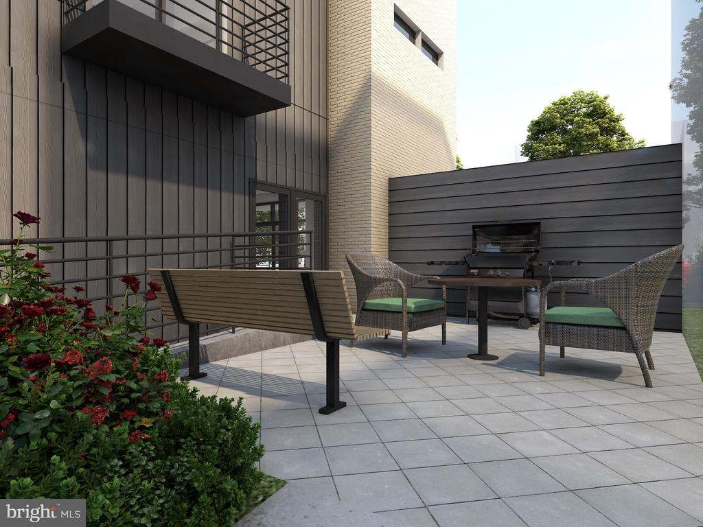 Community Patio and Grilling Station Rendering - 1016 17TH PL NE #200, WASHINGTON