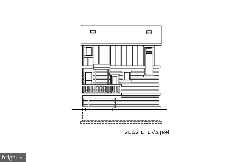 Rear Elevation of proposed home - 1236 CREEK DR, ANNAPOLIS