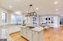 Open gourmet kitchen - 43348 CRYSTAL LAKE ST, LEESBURG