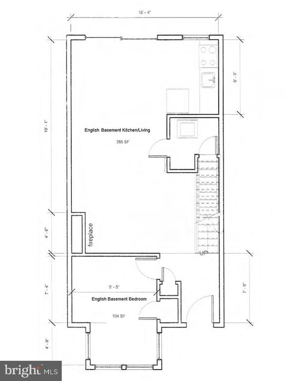 English Basement Floor Plans - 601 NORTH CAROLINA AVE SE, WASHINGTON