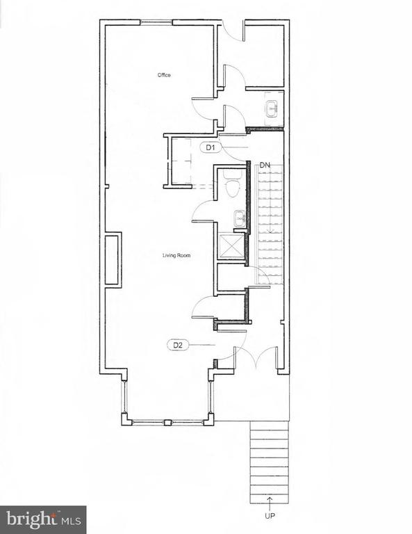 1st Level Floor Plans - 601 NORTH CAROLINA AVE SE, WASHINGTON